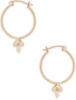 Wassonfine Thorn Hoop Earrings in Metallics.