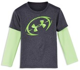 Under Armour Boys' Layered Look Football Tee - Little Kid, Big Kid