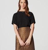 LOFT Geo Garden Shift Skirt