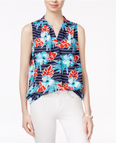 Maison Jules Sleeveless Printed Top, Created for Macy's