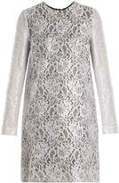 MSGM Coated-lace mini dress