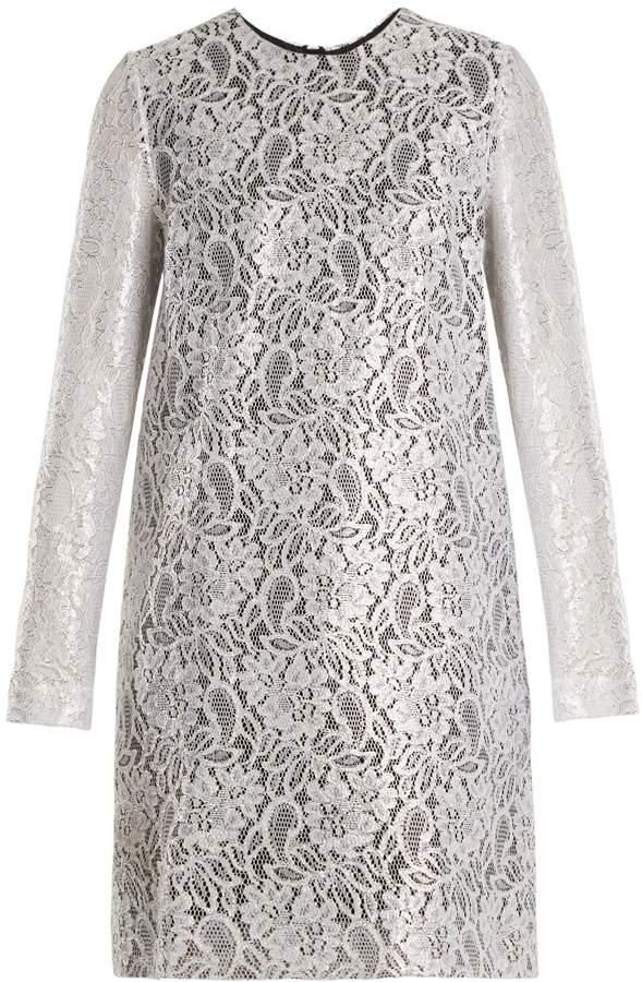 MSGM Coated-lace mini dress