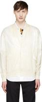 Toga Virilis Cream Nylon Bomber Jacket