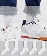 Asos Design ASOS DESIGN sport socks in white 5 pack