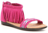Minnetonka Girls' Coco Fringe Sandals