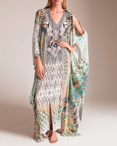 Camilla Weave On Split Front and Sleeve Kaftan