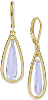 lonna & lilly Gold-Tone Cubic Zirconia Orbital Drop Earrings