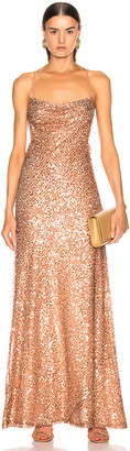 Galvan Paillette Whiteley Dress in Copper | FWRD