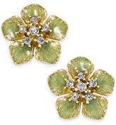 Charter Club Erwin Pearl Atelier For Gold-Tone Colored Flower Crystal Stud Earrings, Only at Macy's
