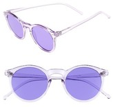 BP Women's 49Mm Round Sunglasses - Clear/ Purple