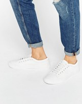 Fred Perry Kendrick Tipped Cuff White Leather Sneakers