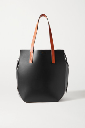 Marni Gusset Color-block Leather Tote - Black