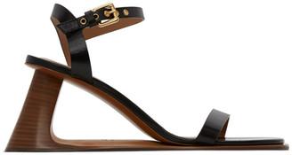 Marni Black Open Heeled Strap Sandals
