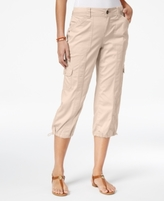 Style&Co. Style & Co Style & Co Petite Bungee-Hem Cargo Capri Pants, Created for Macy's