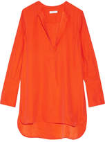Equipment Niko Washed-silk Tunic - Bright orange