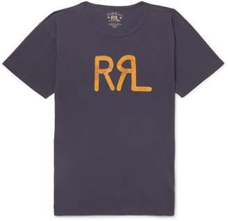 Ralph Lauren RRL Slim-Fit Logo-Print Cotton-Jersey T-Shirt