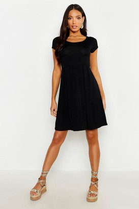 boohoo Jersey Cap Sleeve Skater Dress