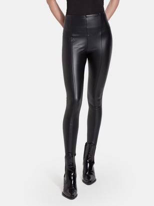 Lysse Hi Waist Vegan Leather Legging - Black
