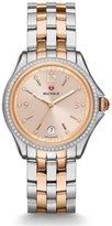 Michele Women's Belmore Diamond 37mm Steel Case Quartz Watch Mww29a000010