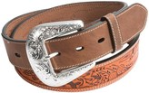 Roper Contrast-Stitch Leather Belt (For Men)