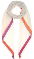 Loro Piana Quadrata Rainbow Cashmere And Silk Scarf