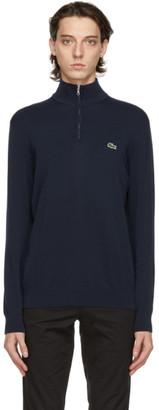 Lacoste Navy Tricot Half-Zip Sweatshirt