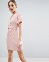 Asos Wrap Dress In Crepe