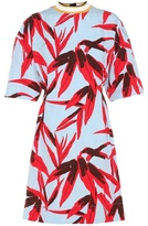 Marni Printed Cotton And Linen-blend Dress