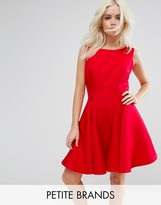 Chi Chi London Petite Fit And Flare Mini Dress With Seam Detail