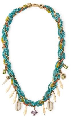 Hirsch Aron & Braided Turquoise, Diamond & Amethyst Necklace - Womens - Blue