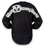 Disney Walt World Long Sleeve Spirit T-Shirt for Women - Black