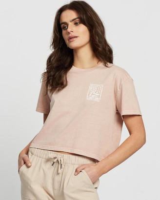 Rusty Coastcare Crop Short Sleeve Tee