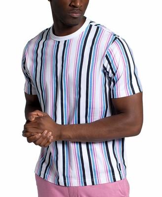 Sean John Men's Short Sleeve Crew Neck Yarn Dye Stripe Tee
