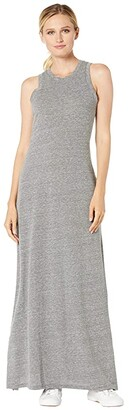 Alternative Eco-Jersey Side Slit Maxi Tank Dress (Eco Grey) Women's Dress