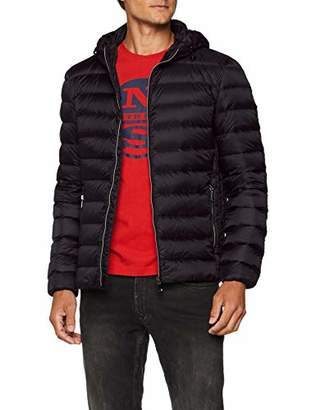 Geox M WARRENS Light weight down jacket with non detachable hood