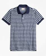 Brooks Brothers Sailor Stripe Jersey Polo Shirt