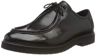 Clarks Men's Ashcroft Seam Brogues, Black Leather