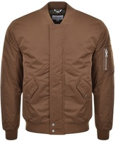 Lacoste Full Zip Bomber Jacket Brown