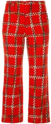 Junya Watanabe Comme Des Garçons Pre Owned Plaid Cropped Knitted Trousers