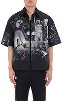 Lanvin Men's Graphic Cotton Oversized Shirt