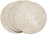 OKA Faux Shagreen Coasters, Set of 4