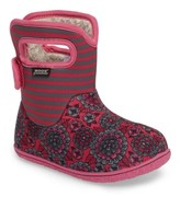 Bogs Infant Girl's Baby Pansy Stripe Waterproof Boot