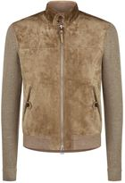 Tom Ford Contrast Sleeve Suede Jacket
