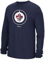 Reebok Winnipeg Jets NHL Jersey Crest Long Sleeve Men's T-Shirt