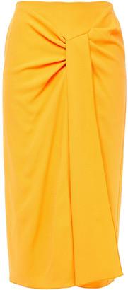 Roland Mouret Draped Stretch-crepe Skirt