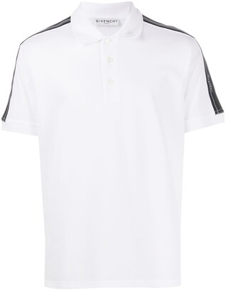 Givenchy Striped Sleeve Polo Shirt