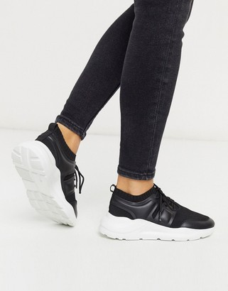 ASOS DESIGN Dover knitted trainers in black