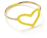 Jordan Askill Yellow Glitter Enamel Heart Ring