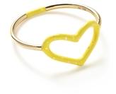 Jordan Askill Yellow Glitter Heart Ring