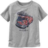 Osh Kosh Boys 4-7x Patriotic Fire Truck Tee
